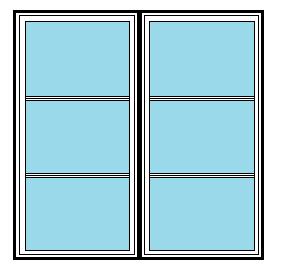 Tvåluft fönster 4-sidigt